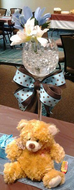Teddy Bear Baby Boy Center Piece...Adorable!