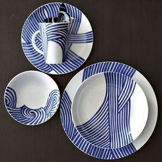 the patterns- Wave Dinnerware Set | west elm
