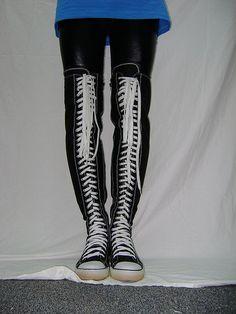 converse lookalike thigh high by allstarfan, via Flickr
