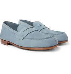 Suede Loafers, Loafer Shoes, Loafers Men, Mens Leather Moccasins, Suede Leather, Weston Shoes, Jm Weston, Brunello Cucinelli, Blue Suede