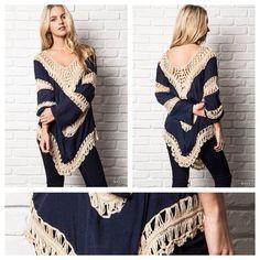 "Spotted while shopping on Poshmark: ""Boho color block knit tunic""! #poshmark #fashion #shopping #style #Tops"