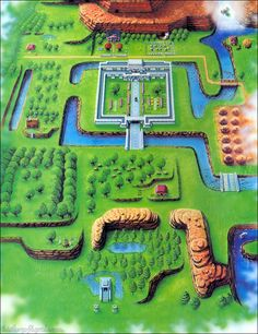 Hyrule map from The Legend of Zelda: A Link to the Past   (From Nintendo Player's Guide)