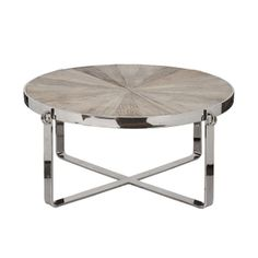 Best Mesas Cromadas Images On Pinterest Furniture Consoles - Reclaimed wood and chrome coffee table