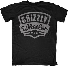 Grizzly Wheeler Fla T-shirt Screenprinting, Mens Fashion, Fashion Outfits, New Look, Bears, Layouts, Shirt Designs, Typography, Design Inspiration