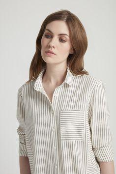 Edith Shirt Dress Close-up