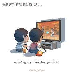 HJ-Story :: BFF Ep.03 – Exercise Partner (Boy)   Tapastic Comics - image 1