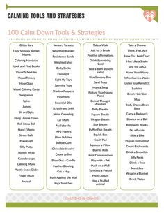 """Saying to """"calm down"""" really doesn't help anyone. What you need is a toolkit filled with calm down tools and strategies that you can access before, during and after a crisis. Counseling Activities, School Counseling, Therapy Activities, Calming Activities, Elementary Counseling, Group Counseling, Mindfulness Activities, Stem Activities, Therapy Ideas"""