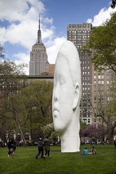 Jaume Plensa's Giant Sculpture Unveiled In Madison Square Park (PHOTO)