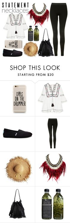 """""""Statement Necklaces"""" by zoeysunday ❤ liked on Polyvore featuring Talitha, TOMS, Topshop, WithChic, Loeffler Randall and AMBRE"""