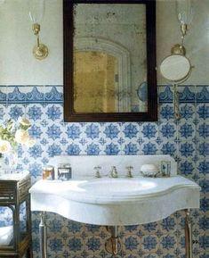 Beauty From Interior Desig: Moroccan Bathroom Inspiration Moroccan Bathroom, Moroccan Tiles, Morrocan Decor, Tuscan Bathroom, Eclectic Bathroom, Glamorous Bathroom, Beautiful Bathrooms, Luxurious Bathrooms, Bad Inspiration