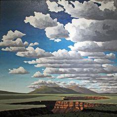 Doug West - Blue Rain Gallery / Santa Fe New Mxico (His prints are very accessible) Fantasy Landscape, Landscape Art, Landscape Paintings, Landscape Drawings, Art Grants, Southwestern Art, Desert Art, Blue Rain, Mountain Paintings