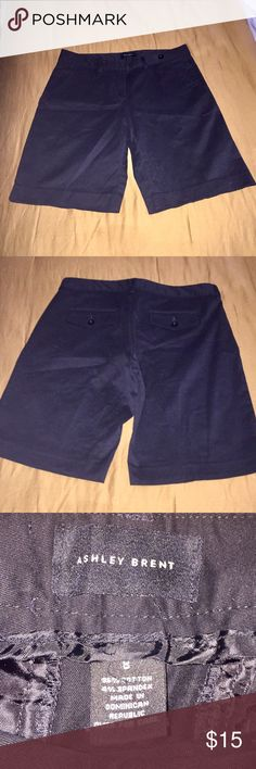 """Ashley Brent Black Shorts Sz 8 EUC! Worn once!  Ashley Brent Black Shorts Sz 8 with 5"""" inseam.  All my items are from a smoke free home and offers are always welcome🛍💗🛍 Ashley Brent Shorts"""