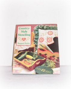 """Margaret Boyles """"Country-Style Stenciling"""" 1991 Rare Art Craft Hobby Book by SheCollectsICreate on Etsy"""