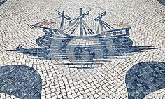 Traditional Portuguese pavement in Ericeira, Portugal Ericeira Portugal, Crazy Paving, Sea Activities, Popular Holiday Destinations, Iberian Peninsula, Tile Panels, Western World, Fishing Villages, Macau