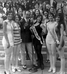The swimsuit competition at the Miss America Pageant in 1927.