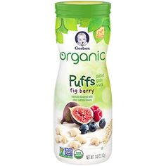 Gerber Graduates Organic Puffs, Fig Berry, 1.48 oz -- Click on the image for additional details. (This is an affiliate link) #healthysnackfortoddler