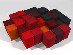 Modular sectional sofa DO LO REZ by MOROSO | design Ron Arad