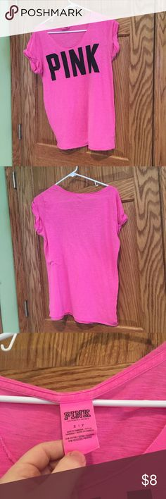 ONE HOUR SALE!Victoria's Secret Pink Tshirt Victoria's Secrect Pink boatneck tshirt. Size S. ❤️ANY $5 LISTINGS 2 FOR $8!❤️ PINK Victoria's Secret Tops