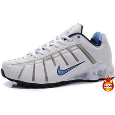 f7175e5d20d569 Womens Nike Shox NZ 3 OLeven White Blue Black Nike Shox Nz