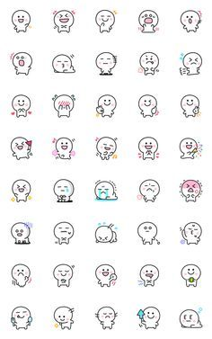 Emoji Drawings, Easy Doodles Drawings, Cute Cartoon Drawings, Cute Kawaii Drawings, Art Drawings Sketches Simple, Cute Cartoon Faces, Small Doodle, Cute Doodle Art, Doodle Art Designs