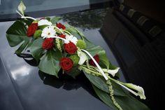 composition florale voiture mariés - Recherche Google