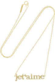 Jennifer MeyerJe T'Aime gold diamond necklace