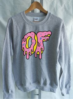 40832823258390 Odd Future Donut Large Dripping Donut Sweater Mens Funny Music Top - OFWGKTA  Wolf Gang Tyler