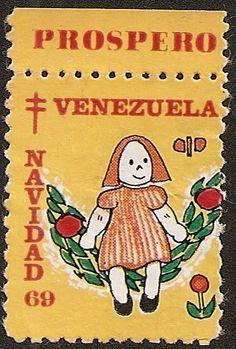 País: Venezuela; Emisor: Sociedad Antituberculosa de Venezuela; Título: Estampilla de Navidad;  Año: 1969