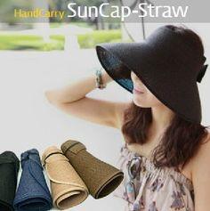 Foldable Womens Wide Brim Floppy Beach Sun Straw Hat 1ac2e804d405