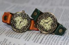 rose vintage leather wrist watchrose watchlove by Lettimestop, $16.99