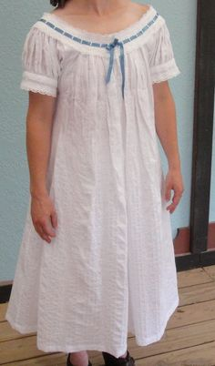 Custom-made Victorian Camisole and Bloomer Set Night Gown Dress, Cotton Nighties, Nightgown Pattern, Casual Dresses, Girls Dresses, White Corset, Baby Dress, Girl Fashion, Short Sleeve Dresses