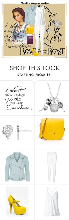 """Belle #2"" by musie-della ❤ liked on Polyvore featuring Disney, The Cambridge Satchel Company, Rebecca Minkoff, New Look, Qupid, Dondup, Sloane Stationery, disney and belle"