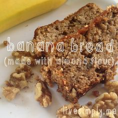 banana bread words... substituted with flax eggs and apple sauce instead of yogurt