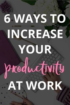 6 Surefire Ways to Increase Productivity at Work - I think productivity is something that just about ALL of us struggle with sometimes. Make sure to check out this post, because I'm sharing some SUREFIRE ways to help you increase productivity at work! Work Productivity, Increase Productivity, Interview, Planning And Organizing, To Strive, Productive Day, How To Stop Procrastinating, Job, Surefire