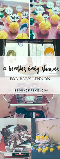 A DIY Beatles Themed Baby Shower for baby Lennon.