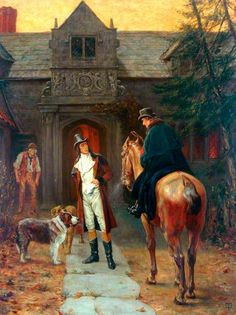 "''Mr Heathcliff?', I said. A nod was the answer.'"" by Thomas Davidson, Brontë Parsonage Museum, oil on canvas."