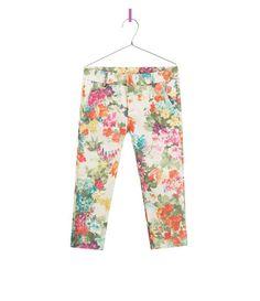 PRINTED TROUSERS - Trousers - Girl - Kids | ZARA United Kingdom