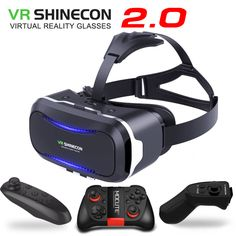 New Original VR Shinecon II 2.0 Helmet Cardboard Virtual Reality 3D Glasses Mobile Phone Video Movie for Smartphone with Gamepad //Price: $19.73 & FREE Shipping //     #videogame