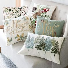 Exceptional Christmas decoration detail are offered on our site. Have a look and you will not be sorry you did. Pier One Christmas, Christmas On A Budget, Green Christmas, Christmas Home, Christmas Crafts, Christmas Cushions, Christmas Pillow, Green Pillows, Throw Pillows