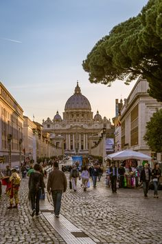 Towards the Vatican of Rome, Italy.