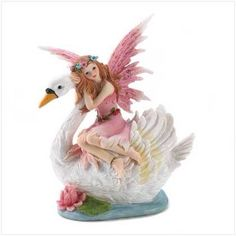 Swan Fairy Coin Bank $14.95 https://www.facebook.com/Twogirlsdecor/posts/791672154282266:0 #decor #twogirlsdecor #fairy #tabletop #homedecor #bank #swan #whimsical