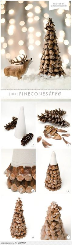 I Fall in Chocolate: DIY PINECONE XMAS TREE na Stylowi.pl