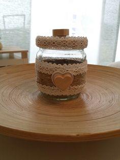 Récup bocal. ..suite Jar, Home Decor, Homemade Home Decor, Jars, Decoration Home, Glass, Interior Decorating