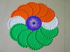 Simple Rangoli Border Designs, Rangoli Borders, Free Hand Rangoli Design, Colorful Rangoli Designs, Rangoli Designs Diwali, Rangoli Designs Images, Beautiful Rangoli Designs, Easy Rangoli, Independence Day India Images
