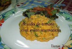 Açorda de Tomate com Ervas Aromáticas