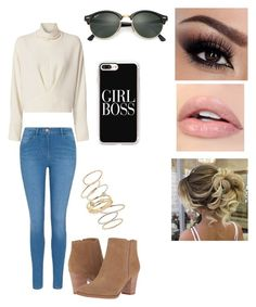 """""""Untitled #118"""" by thatdorkoverthere on Polyvore featuring George, Casetify, IRO, Franco Sarto, BP. and Ray-Ban"""
