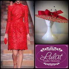 Look perfecto traje rojo #Valentino y Pamela #lulat
