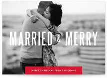 Married & Merry -- cute idea for a newlywed couple