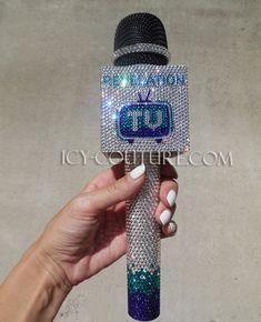 Custom Bling MIC FLAG & Microphone