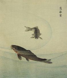 Two Carp Japanese Print exhibit
